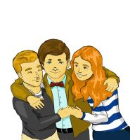 The Doctor, Rory and Amy by EvilPurpleChicken