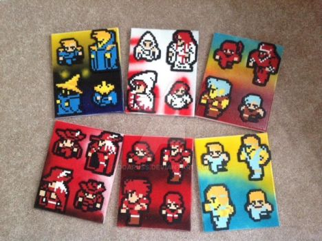 My Old Final Fantasy 1 Sprites On Canvas by DOAruss
