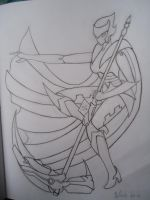 RWBY Ruby Rose Robot (Uncolored) by starscreamundermybed