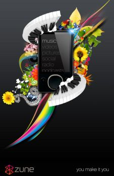 Zune Poster by escapepodone