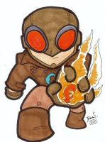 Chibi-Lobster Johnson 3. by hedbonstudios