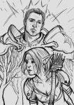 Alister and my grey warden by sagasketchbook