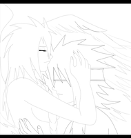 R.c. re-codicated_wings of Love Lineart by SoulOfPersephone