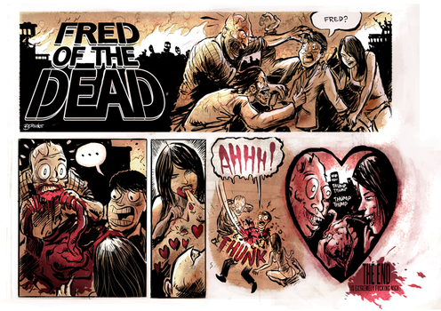 Fred of the Dead now in colour by sayunclecomics