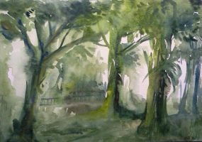 Watercolor - Forest II by Zeon1309