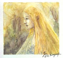 The young Galadriel by morcondil