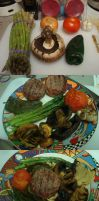 Grilled Filet Mignon + Veggies by Trance-Plant