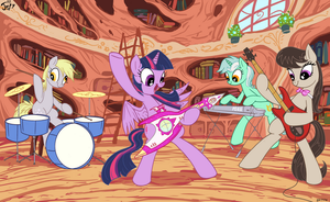 Library Jam by Jowybean