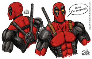 Deadpool sketches by XSol-StudiosX