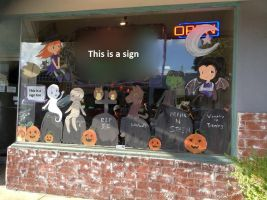 Halloween Window Painting by HizukiNoriega