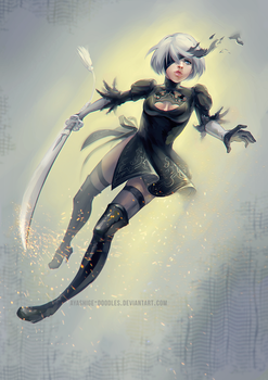 Nier Automata - 2B by ayashige-doodles