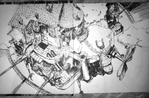 Howl's Moving Castle-Uncolored by ShanellaAsh