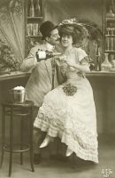 Vintage couple at the bar 001 by MementoMori-stock