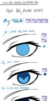 How I color eyes c: by NiseSK