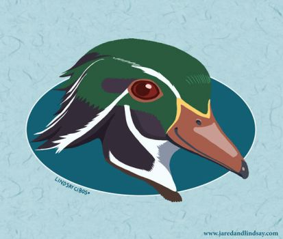 Portrait of a Wood Duck by peachfuzzmargins