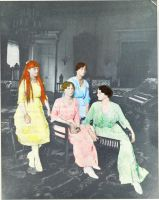 Grand Duchesses in 1915 by Sonja-from-Finland