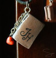 I Heart Books charm by xcalixax