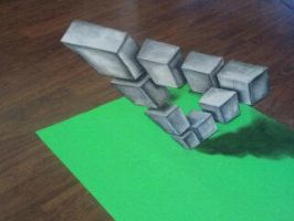 Anamorphic Penrose Triangle by SLSistrunk