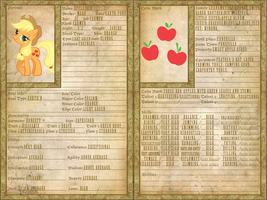 Applejack Character Sheet by GeneralDurandal