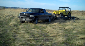 My Dodge and My Cousins Cj5 by Ashes-of-the-valiant