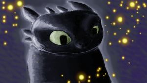 Sparkly Toothless by pito200decimals
