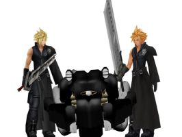 3D Cloud Strife with Fenrir by IntenseObservation