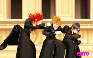Axel, Roxas, and Xion by fuys