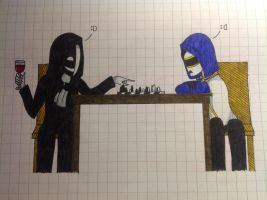 Kage And Grafitti Are Playing Chess by Cerealous