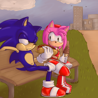 Request 18 :sonamy: by Blue-Chica