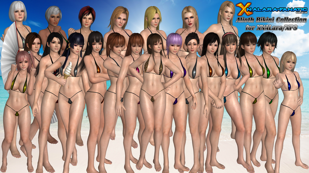 DOA5LR Alioth Swimsuits for XNALara/XPS by XNALara-Fanatic