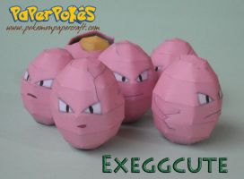 Exeggcute Papercraft by Olber-Correa
