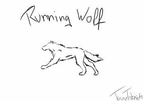Running Wolf by TracEC00Kie