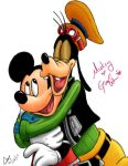 Mickey-Goofy Love by clayangel