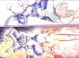 Mega Man Colored Pencil WnIPa by ADE-doodles