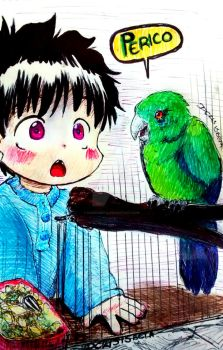 Max and the Parrot by dcrisisbeta