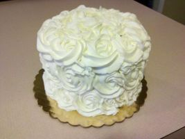 Wedding Cake Consultation Cake side view by missblissbakery
