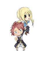 Chibi Nalu by shadoouge