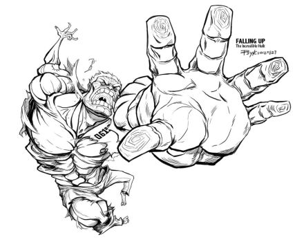 HULK: Falling Up by PsychedelicMind