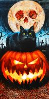 HALLOWEEN CAT by Woody Welch by woodywelch
