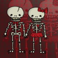 Skelly and Skully by curs