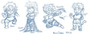 Saiyaness sketches by agra19