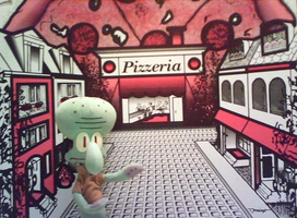 Squidward Visits Very Little Italy by bizrat