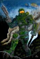 Master Chief FanArt by blackbicho