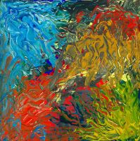 Thick Gouache Abstract I by nathanmarciniak