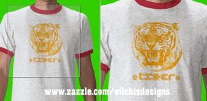 T  Shirt: Tiger by Vilchis