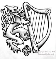 Lionandharp by Tattoo-Design