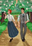Anne Shirley and Gilbert Blythe by McDalek