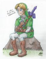 Link in Traditional Pencils by RynnLight