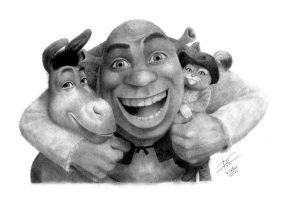 Shrek and friends by danielcunha99x