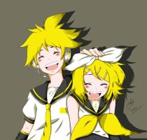 Rin and Len  Kagamine:D by JuliusLOL
